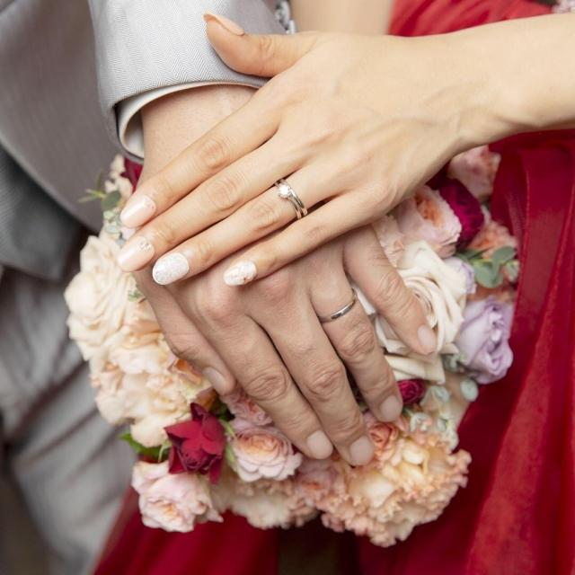 40代男性が結婚する写真
